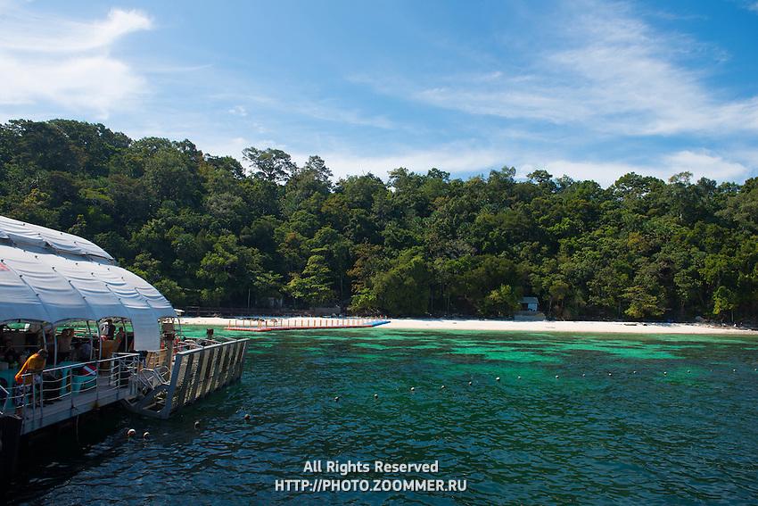 Pulau Payar island and floating platform