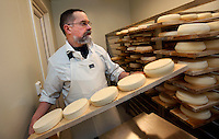 "Brother Joël producing cheese. In accordance with the Rule of St. Benedict to seek God through ""the work of their hands"", the monks of Abbaye de Cîteaux produce a unique, soft cheese. Having each taken a vow of poverty, they make and sell this cheese to support their monastic life...The new Munkeby Mariakloster - kloster is Norwegian for monastery . The four founding French monks will establish their discrete presence as a contemplative monastery according to the Rule of Saint Benedict, written in the 6th century. Brother Joel (55) & Cîteaux's Prior, brothers Arnaud (31), Bruno (33) and Cyril (81), have all chosen to be part of the founding community, despite Norway's rude climate and winter darkness at latitude 63º N, not far from the arctic circle.Munkeby, the ""place of the monks"" was the third and northernmost Norwegian monastery established by the Cistercians in the 12th century"