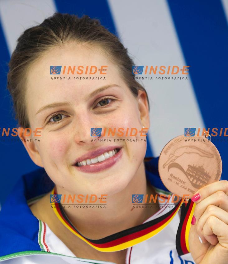 Noemi Batki ITA bronze medal<br /> Platform 10m Women final<br /> Day 02 10/06/2015  <br /> 2015 Arena European Diving Championships<br /> Neptun Schwimmhalle<br /> Rostock Germany 09-14 June 2015 <br /> Photo Giorgio Perottino/Deepbluemedia/Insidefoto