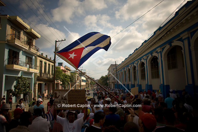 May Day celebration in Havana, Cuba. May. 1, 2008.