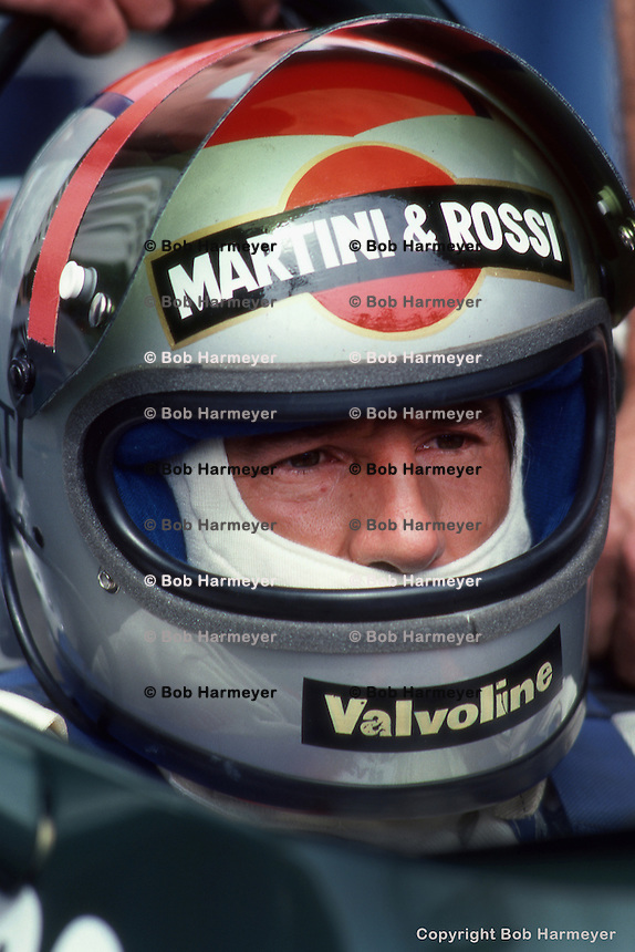 LONG BEACH, CA - APRIL 8: Reigning world champion Mario Andretti waits to drive his Lotus 79 R5/Ford Cosworth DFV during the United States Grand Prix West on April 8, 1979, on the temporary street course in Long Beach, California.