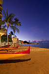 Sunrise, Waikiki Beach, Honolulu, Oahu, Hawaii