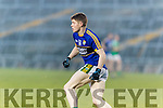 Brian Ó Seanacháin Kerry in action against  Limerick in the Final of the McGrath Cup at the Gaelic Grounds on Sunday.