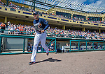 14 March 2016: Atlanta Braves first baseman Freddie Freeman takes the field to start a Spring Training pre-season game against the Tampa Bay Rays at Champion Stadium in the ESPN Wide World of Sports Complex in Kissimmee, Florida. The Braves shut out the Rays 5-0 in Grapefruit League play. Mandatory Credit: Ed Wolfstein Photo *** RAW (NEF) Image File Available ***