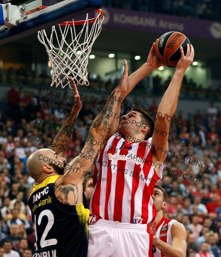 Marko Tejic  Euroleague basketball game between Crvena Zvezda and Fenerbahce on Novembar 6. 2015 Beograd, Srbija, 6.11.2015.  (credit image & photo: Pedja Milosavljevic / STARSPORT)