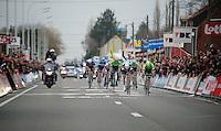 Tom Boonen (BEL) wins Kuurne by a tube (against Moreno Hofland NLD)<br /> <br /> Kuurne-Brussel-Kuurne 2014