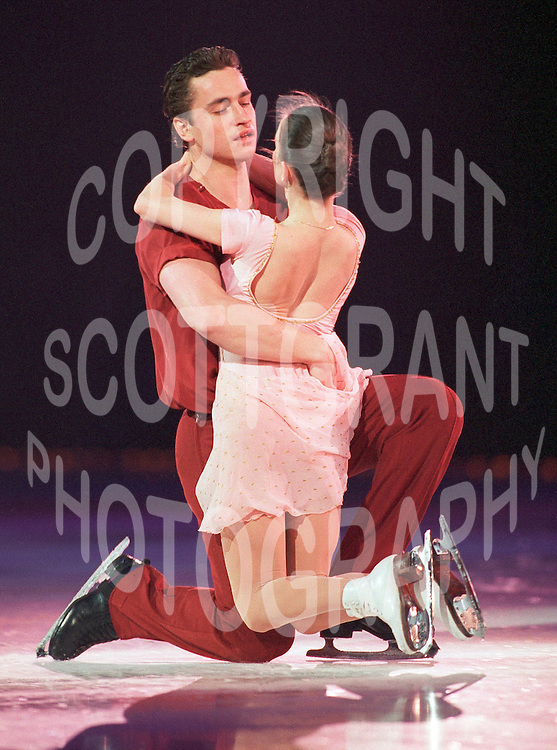 Ekaterina Gordeeva and Sergei Grinkov of Russia skate during an ice show in Ottawa, Canada. Photo copyright Scott Grant