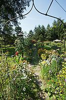 The gardens at the Hamilton Club in Morris Run, PA.
