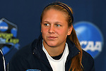 04 December 2008: Junior Michele Weissenhofer. The Notre Dame Fighting Irish held a press conference at WakeMed Soccer Park in Cary, NC one day before their NCAA Women's College Cup semifinal game.