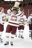 Mary Restuccia (BC - 22) - The Boston College Eagles defeated the Harvard University Crimson 3-1 to win the 2011 Beanpot championship on Tuesday, February 15, 2011, at Conte Forum in Chestnut Hill, Massachusetts.