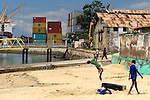 These two boys performed impressive acrobatic skills while we ate lunch over looking the port in Stone Town.
