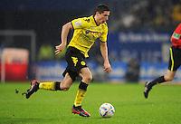FUSSBALL   1. BUNDESLIGA   SAISON 2011/2012   18. SPIELTAG Hamburger SV - Borussia Dortmund     22.01.2012 Robert Lewandowski (Borussia Dortmund)