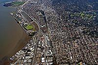 aerial photograph Burlingame, San Mateo county, California