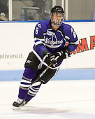 Marc Zanette (Niagara - 8) - The visiting Niagara University Purple Eagles defeated the Northeastern University Huskies 4-1 on Friday, November 5, 2010, at Matthews Arena in Boston, Massachusetts.