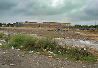 Washington D.C. - October 1, 2016: Around the former T Street SW looking towards Fort McNair. Buzzards Point area in Southwest Washington D.C. cleared for construction of the new soccer stadium for D.C. United scheduled to open in 2018.