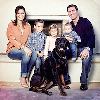 2 November 2012:  The Beauchemin Family at their home in Tustin, CA.