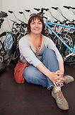 Die Geschäftsführerin Alida Mezi? von blue bike Zagreb ist gelernte Designerin und führt Gäste mit Fahrradtouren durch Zagreb. / The manager of Zagreb blue bike, Alida Mezi?, is a qualified designer and leads guests with bicycle tours Zagreb.