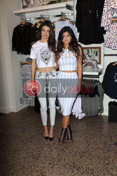 Kendall Jenner, Kylie Jenner<br /> at the &quot;Kendall &amp; Kylie&quot; PacSun Clothing Range Launch, PacSun, Glendale, CA 11-09-13<br /> David Edwards/DailyCeleb.com 818-249-4998