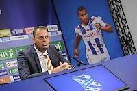 VOETBAL: HEERENVEEN: Abe Lenstra Stadion 26-10-2015, SC Heerenveen, Jelko van der Wiel maakt bekend aan het personeel en de pers dat hij opstapt als voorzitter in het belang van de club, ©foto Martin de Jong