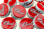 Used Metal Budweiser Bottle Lid's - 2012