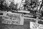 Diamondhead, Mississippi.USA.December 2, 2005 ..Hurricane Katrina damage and recovery along the coast of south western Mississippi....