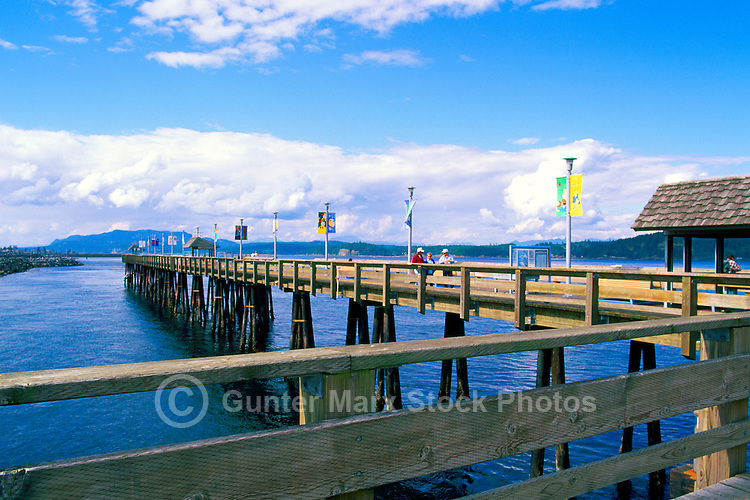 """Discovery Pier"" - a Fishing Wharf, overlooking Discovery Passage, in Campbell River, Vancouver Island, British Columbia, Canada"