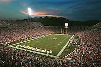 Scott Stadium in Charlottesville, Va. Photo/Andrew Shurtleff..uva football field