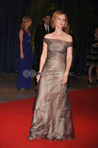 Cynthia Nixon arrives at the White House Correspondents' Association Dinner in Washington, DC. May 1, 2010. Credit: Dennis Van Tine/MediaPunch