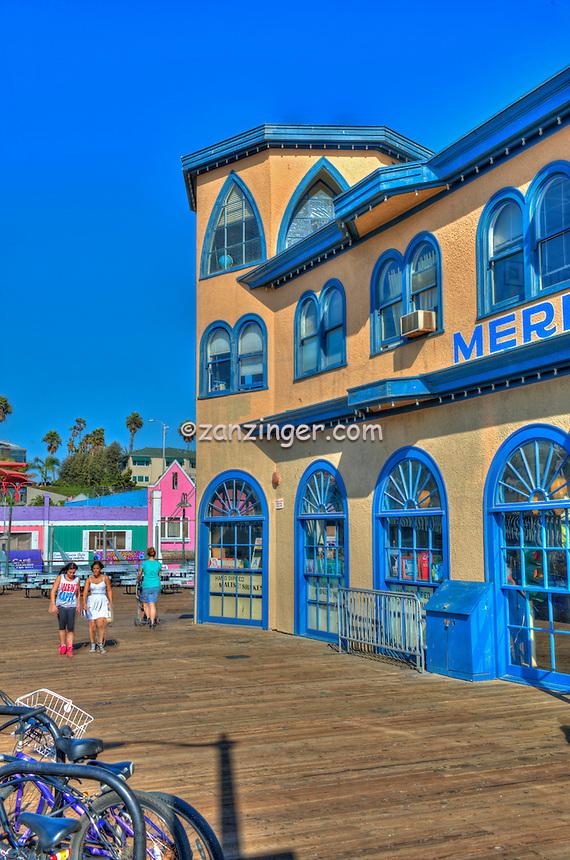 Santa Monica CA, Santa Monica Pier, Carousel, Exterior, Pacific Park, California, United States of America, North America