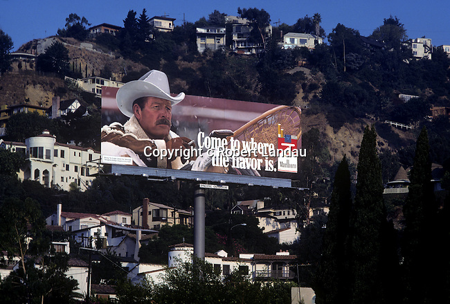 Marlboro cigarette billboard on the Sunset Strip.