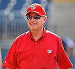 15 June 2012: Washington Nationals Owner Mark Lerner smiles during batting practice prior to a game against the New York Yankees at Nationals Park in Washington, DC. The Yankees defeated the Nationals 7-2 in the first game of their 3-game series. Mandatory Credit: Ed Wolfstein Photo