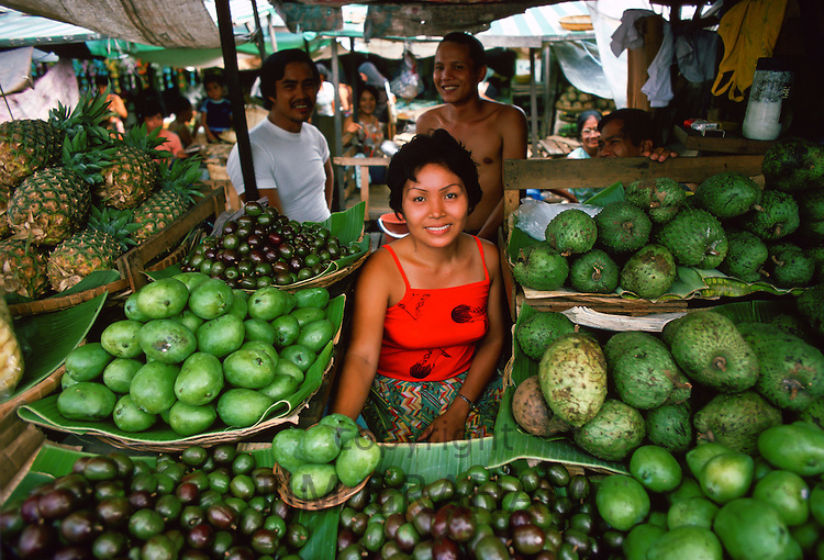 Fruit stall, Manila market, Philippines RESERVED USE - NOT FOR DOWNLOAD -  FOR USE CONTACT TIM GRAHAM