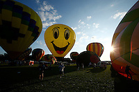 New York, USA. 25 July 2014.  Balloons are seen while people enjoy a day during a Balloon festival in Readington, New Jersey. Photo by VIEWpress