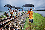 Railway track, Bangladesh, 1983<br />