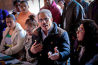 Quer&eacute;taro, Qro. 06 Enero 2016.- La agrupaci&oacute;n Antorcha Campesina ofreci&oacute; rueda de prensa en el restaurante 1810 del centro de la ciudad para exigir a las autoridades atenci&oacute;n en las colonias Las Huerta Y tenochtitlan en el municipio de El Marqu&eacute;s por presiones y amenazas para abandonar sus predios. <br /> Foto: Victor Pichardo / Obture Press Agency