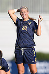 06 September 2013: West Virginia's Kara Blosser. The Duke University Blue Devils hosted the West Virginia University Mountaineers at Koskinen Stadium in Durham, NC in a 2013 NCAA Division I Women's Soccer match. The game ended in a 1-1 tie after two overtimes.