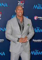 "HOLLYWOOD, CA - NOVEMBER 14: Dwayne Johnson attends the AFI FEST 2016 Presented By Audi - Premiere Of Disney's ""Moana"" at the El Capitan Theatre in Hollywood, California on November 14, 2016. Credit: Koi Sojer/Snap'N U Photos/MediaPunch"
