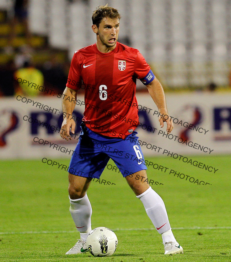 BELGRADE, SERBIA - AUGUST 15:  Branislav Ivanovic during the football International friendly match between Serbia and Republic of Ireland at Red Star stadium on August 15, 2012 in Belgrade, Serbia.(credit: Pedja Milosavljevic/thepedja@gmail.com/+381641260959)