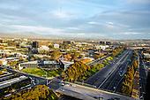 aerial stock photo of Newport Beach California