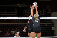 STANFORD, CA - September 9, 2016: Ivana Vanjak at Maples Pavilion. The Purdue Boilermakers defeated the Stanford Cardinal 3 - 2.