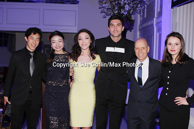 Figure Skating in Harlem celebrates 20 years - Champions in Life benefit Gala on May 2, 2017 honoring Sasha Cohen, and Curtis McGraw Webster and presenting Scott Hmailto with The Power of Inspiration Award at 583 Park Avenue, New York City, New York. Attending are Nathan Chen, Maia Shibutani, Meryl Davis, Evan Lysacek, Scott Hamilton, Sasha Cohen. (Photo by Sue Coflin/Max Photos)
