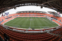 Houston, TX- Friday December 9, 2016: BBVA Compass Stadium prior to the NCAA College Cup game between the Denver Pioneers and the Wake Forest Demon Deacons at the NCAA Men's Soccer Semifinals in Houston Texas.