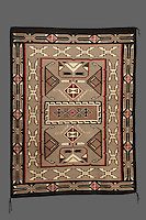 Woven rug, 1983, made from wool and dye, by the Navajo artist Bessie Lee, b. 1921, from the collection of the Denver Art Museum, Denver, Colorado, USA. Picture by Manuel Cohen
