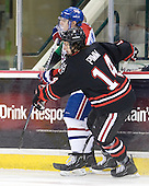 David Vallorani (Lowell - 10), Braden Pimm (Northeastern - 14) - The visiting Northeastern University Huskies defeated the University of Massachusetts-Lowell River Hawks 3-2 with 14 seconds remaining in overtime on Friday, February 11, 2011, at Tsongas Arena in Lowelll, Massachusetts.