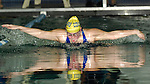 A swimmer competes in the 2007 RIIL State Tournament.