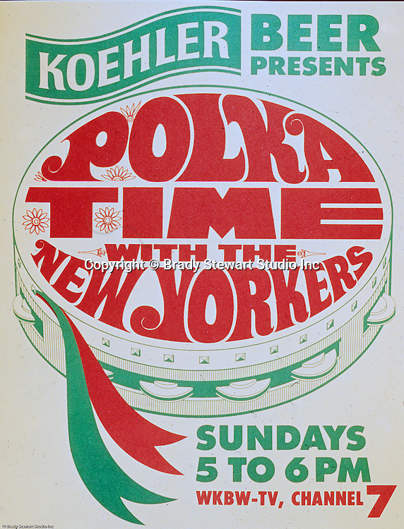 """Erie Brewing Company 1965:  Koehler Beer sponsoring """"Polka Time"""" on a local Television Station.  Advertisement was developed for Koehler's Pittsburgh Advertising Agency; Lando Inc.  Lando Inc owned and was located in the same building as Brady Stewart Studio - 725 Liberty Avenue in downtown Pittsburgh."""