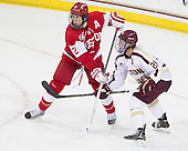 Ryan Ruikka (BU - 2), Steven Whitney (BC - 21) - The Boston College Eagles defeated the visiting Boston University Terriers 5-2 on Saturday, December 1, 2012, at Kelley Rink in Conte Forum in Chestnut Hill, Massachusetts.