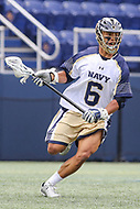 Annapolis, MD - April 15, 2017: Navy Midshipmen Greyson Torain (6) in action during game between Army vs Navy at  Navy-Marine Corps Memorial Stadium in Annapolis, MD.   (Photo by Elliott Brown/Media Images International)