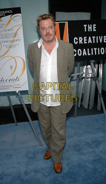 "26 July 2005 - New York, New York - Eddie Izzard arrives at the premiere of the new film, ""The Aristocrats"", at The Directors Guild Theater in Manhattan.  .Photo Credit: Patti Ouderkirk/AdMedia"