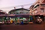 Early morning at Thewet Market, Bangkok, Thailand